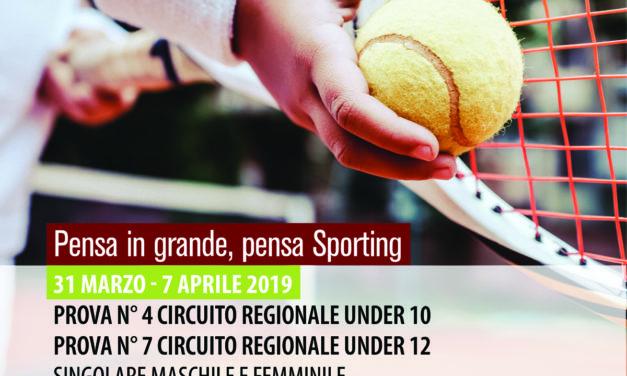 Tennis – Torneo Under 10 – Under 12 M/F – 31 marzo – 7 aprile 2019