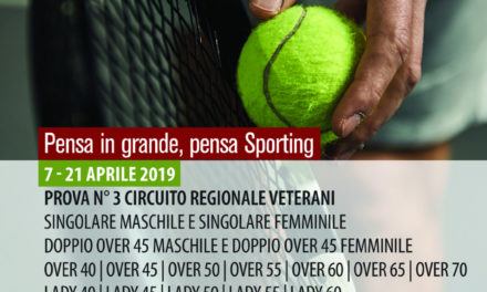 Tennis – Torneo Veterani  Sporting Village M/F – 7-21 aprile 2019