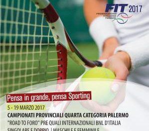 Tennis – Torneo IV Categoria M/F 05-19 marzo 2017