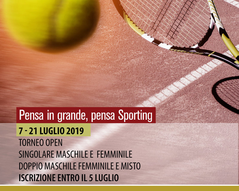 Tennis – Torneo Open Sporting Village M/F – 7-21 luglio 2019